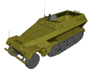Sd-Kfz 251/1 Hanomag 3D Model