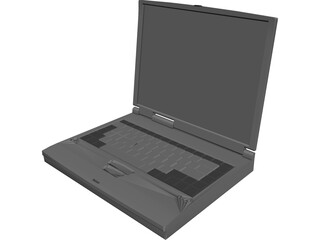 Notebook Toshiba 3D Model