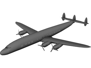 Lockheed C-121 Constellation 3D Model
