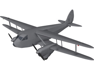 de Havilland D.H.89A Dragon Rapide 3D Model