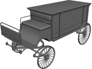 Horsedrawn Hearse 3D Model