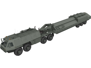 Military Transport Patriot Trailer 3D Model