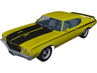 Buick GSX Stage 1 (1970) 3D Model 3D Preview