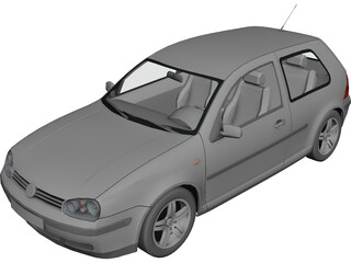 Volkswagen Golf IV (3 doors) 3D Model
