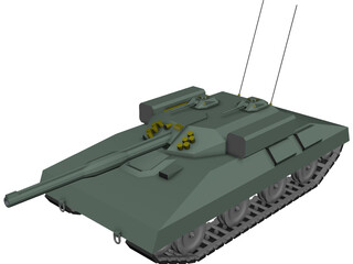 Tank Missile Armed 3D Model 3D Preview