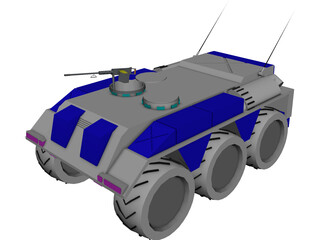 M-116a Wheeled Armored Personel Carrier 3D Model