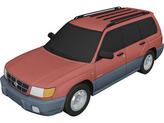 Subaru Forester (1997) 3D Model 3D Preview