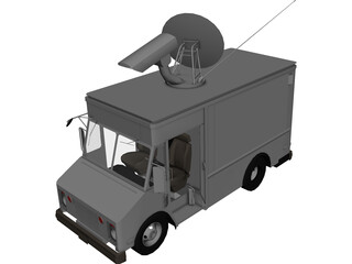 Chevrolet TV Van (1988) 3D Model