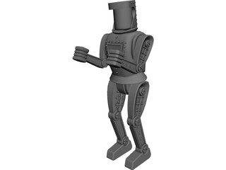 Boxing Robot 3D Model
