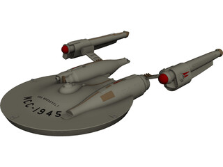 Star Trek Airplane 3D Model