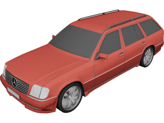 Mercedes-Benz E 5.5 Brabus (w124) 3D Model