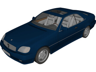 Mercedes-Benz 600 SL 3D Model