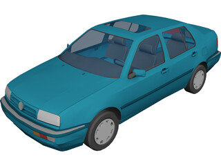 Volkswagen Jetta/Vento (1993)  3D Model 3D Preview