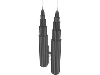 Towers Petronas 3D Model