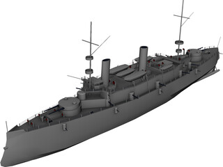 Olympia Armored Cruiser 3D Model