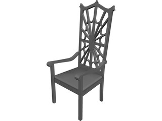 Chair Arm Highback Victorian 3D Model