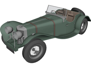 Jaguar SS100 (1935) 3D Model