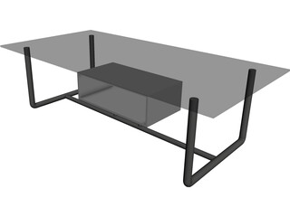 Table Coffee Modern Small 3D Model