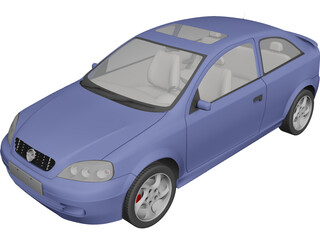 Opel Astra Coupe (1998) 3D Model