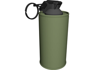 Mark 4 Screening Smoke Grenade 3D Model