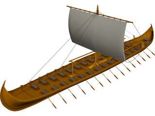 Viking Longboat 3D Model