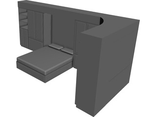 Wall Bed System 3D Model
