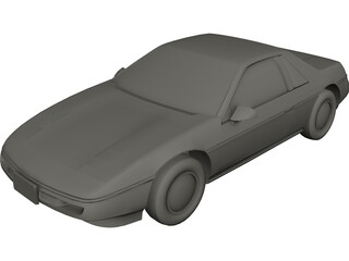 Pontiac Fiero GT 3D Model
