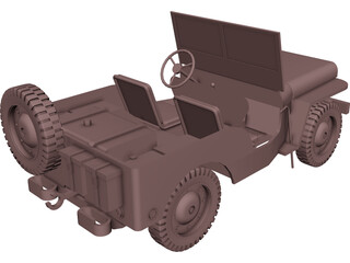 Jeep Willys (1942) 3D Model