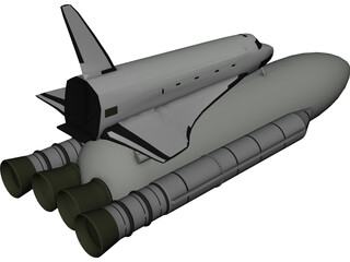 Space Shuttle Buran [+Energia] 3D Model 3D Preview