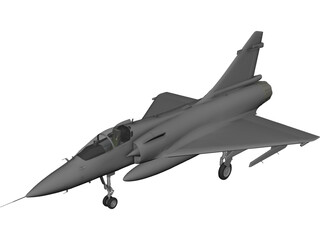 Dassault Mirage 2000 3D Model 3D Preview