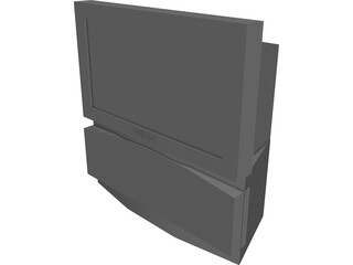 TV Rear Projection Screen 3D Model