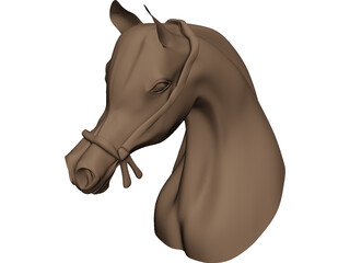 Horse Head Arabian 3D Model
