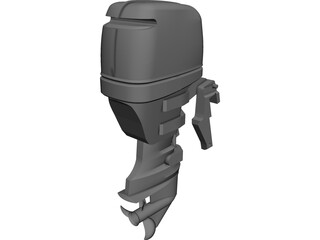 Yamaha F50 Outboard Motor 3D Model 3D Preview
