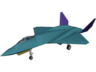 YF-23 Military Fighter Jet 3D Model