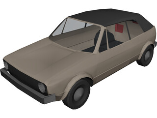 Volkswagen Golf Convertible 3D Model