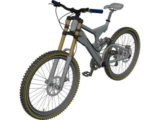 Bike Mountain Freeride/Downhill 3D Model