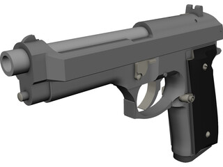 Beretta Articulated 3D Model