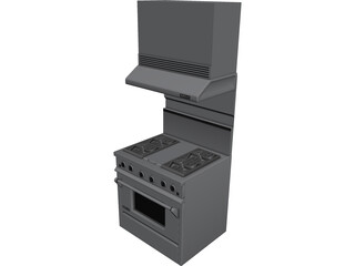 Jenn-Air Gas Range 3D Model