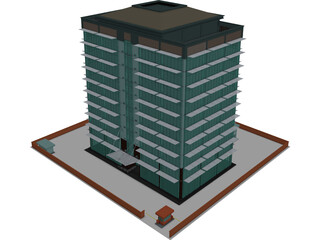 Tech Office Building 3D Model