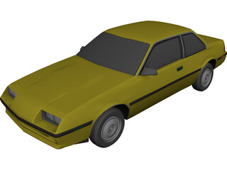 Buick Skyhawk (1984) 3D Model 3D Preview