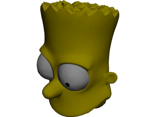Simpsons Bart Head 3D Model