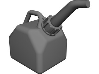 General 10L Gas Can CAD 3D Model