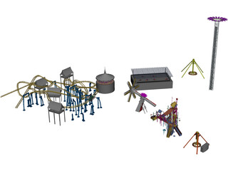 Amusement Park 3D Model