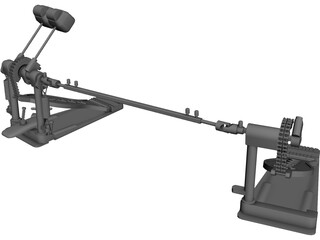 DW5000 Double Pedal 3D Model 3D Preview