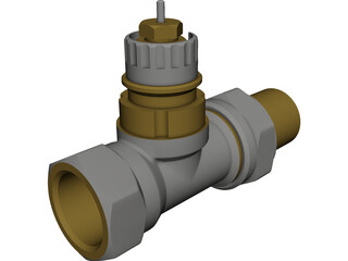 Danfoss Radiator Valve CAD 3D Model