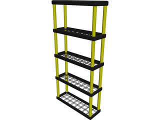Plastic Shelf Unit 3D Model