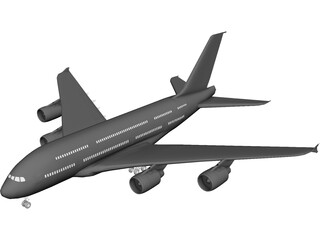 Airbus A380 3D Model 3D Preview