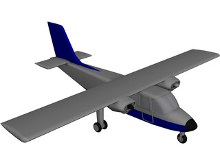 Britten Norman Islander/Defender CAD 3D Model