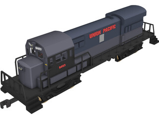 Union Pacific Train 3D Model