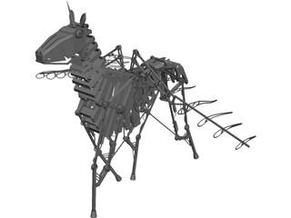Mechanical Horse CAD 3D Model